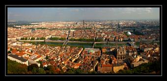 Lyon depuis la Basilique Notre Dame de Fourvière